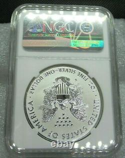 2019 S Reverse Proof Silver Eagle Ngc Graded Pf 69 With Coa & Mint Box