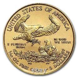 2020 1/10 Oz Américaine Gold Eagle Bu (withu. S. Mint Box)