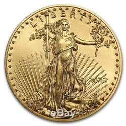 2020 1/10 Oz Mint État Américain Gold Eagle