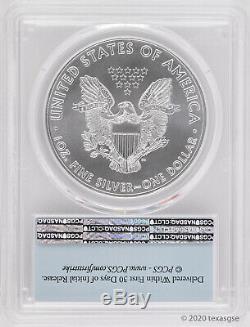 2020 $ 1 American Silver Eagle Pcgs Ms70 Fs Lot De 10 En Stock-prêt À Ship