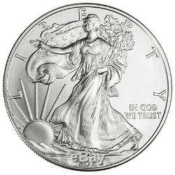 2020 1 Oz Américaine Silver Eagle Coin Brillant Uncirculated Lot De 5