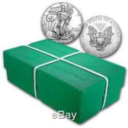 2020 1 Oz Silver Eagles Américains 500 Coin Scellé Monstre Boîte Us Mint