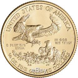 2020 Américaine Gold Eagle 1/4 Oz 10 $ 1 Rouleau Quarante 40 Coins Bu Mint Tube