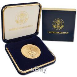 2020 Américaine Gold Eagle 1 Oz 50 $ Pièce Bu En U. S. Mint Boîte-cadeau