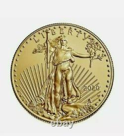 2020 American Gold Eagle Pièce Non Circulée! W Menthe, Seulement 7k Frappé. Pièce De Monnaie Au Mbac