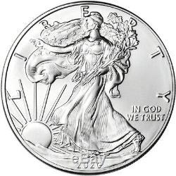 2020 American Silver Eagle 1 Oz 1 $ 5 100 Rolls Coins Bu Dans 5 Mint Tubes