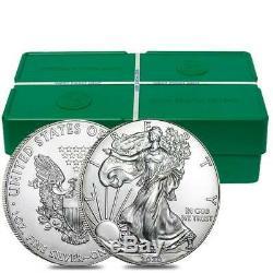 2020 Argent American Eagle 1 Oz D'argent Pre-sael Bu USA Fabriqué 20 Rouleau De Pièces Lot