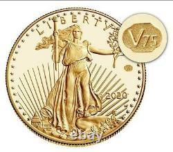 2020 Fin De La Seconde Guerre Mondiale 75e Anniversaire American Eagle Gold V75 Mint Sealed