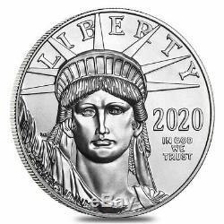 2020 Platinum $ 100 American Eagle 1 Oz Us Mint Américaine Platinum Aigle Coin