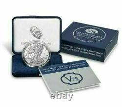 2020 Silver Eagle 75th Ann Wwii V75 Shipped Sealed Unopened Original Mint Box
