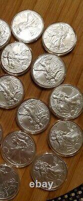 2020 Silver Eagles Type 1- 1 Oz Pièces De Monnaie. Lot De 20 Dans Le Tube De Rouleau
