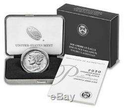 2020 Us Mint 1 Oz American Eagle Palladium Ongecirculeerd Coin 20ek Précommande