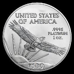 2020 Us Mint 1 Oz Platinum American Eagle $ 100 Coin Bu Brillant Uncirculated