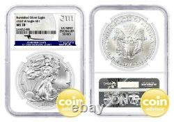 2020 W $1 Burnished Silver Eagle Ngc Ms70 Mercanti Signature U.s. Mint Graveur