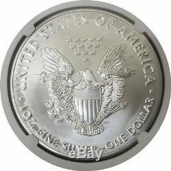 2020 (p) $ 1 Argent American Eagle Mint Erreur Frappé Faiblement Ngc Ms69 D'urgence Pr