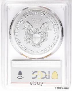 2020(s) $1 Amer. Silver Eagle Ms70 First Day San Fran. Question D'urgence-lot 10