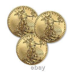 2021 1 Oz American Gold Eagle Bu (lot De 3)