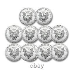 2021 1 Oz American Silver Eagle Bu Lot De 10