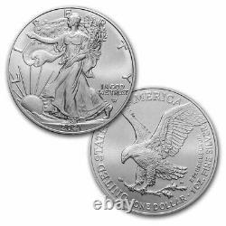 2021 1 Oz American Silver Eagle Bu (type 2) Lot, Rouleau, Tube De 20 Pièces
