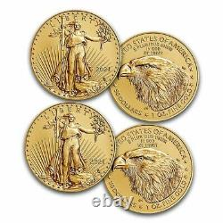2021 American 1 Oz Gold Eagle Bu (type 2)- 50 $ Us Gold (lot De 2)