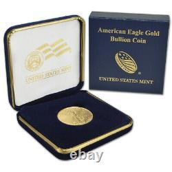 2021 American Gold Eagle 1/2 Oz $25 Bu Pièce De Monnaie Dans U. S. Mint Gift Box