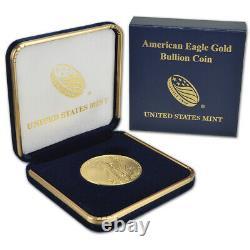 2021 American Gold Eagle 1 Oz $50 Bu Pièce De Monnaie Dans U. S. Mint Gift Box