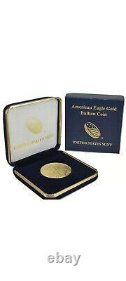 2021 American Gold Eagle 1 Oz Pièce De 50 $ En U.s. Mint Gift Box