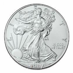 2021 American Silver Eagle Lot De 4 Pièces Bu(type 1) 1 Oz 1 $