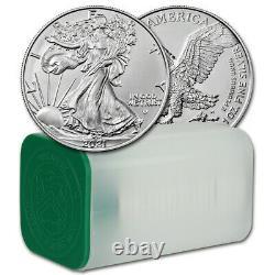 2021 American Silver Eagle Type 2 1 Oz $1 1 Roll Twenty 20 Bu Pièces En Tube À Menthe
