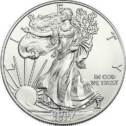 2021 États-unis Silver Eagle 1 Oz Coin Lot De 100