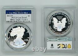 2021 W Argent Aigle Américain $1 Type 1 Pcgs Gem Proof West Point Mint