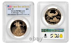 2021 W Proof Gold Eagle Pcgs Pf 70 $50 $50 First Day Issue Presale Mint Confirmed