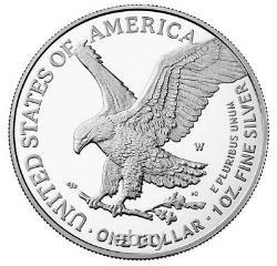 2021 W Proof Silver Eagle, Heraldic T-2, Acheté Directement Auprès De Nous Menthe