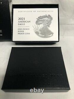 2021 W Us Mint American Proof Argent Eagle Type De Dollar 2 En Main