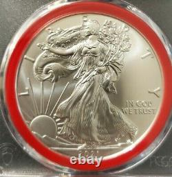 2021 (s) Emergency Silver Eagle Pcgs Ms70 Fdoi Mercanti Mint Engranger Series Red