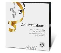 2021-w American Proof Eagle Félicitations Set (21rf) Us Mint Boîte Scellée De 60