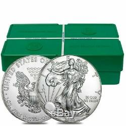 (20) 2020 Silver Eagles Américains $ 1 Coin / Monnaie Roll / Unopened / Unsearched