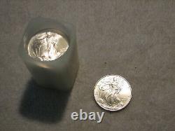 20 Ea. 1996 Aigles D'argent Américains, Un Rouleau De Menthe Des États-unis Sleeve Lot Tube Au/bu Rare