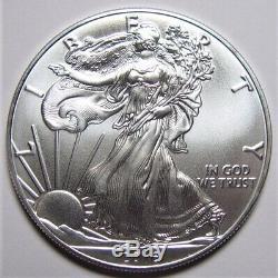 20 Silver American Eagles, 2016, 1 Rouleau En U. S. Mint Tube, Nice, Livraison Gratuite