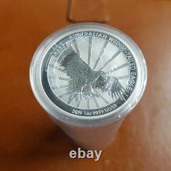 20 X Perth Mint 2019 Australian Wedge Pièces De Queue D'argent Eagle 1 Oz Bateau Libre