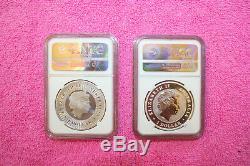 2 Aus Coin Lot, Deux Ngc Mint State 70, Kang & W-t Eagle One Signé Par Mercanti