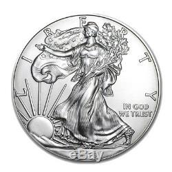 500 Pièces D'argent 2018 American Eagle 1oz Coins Scellés À La Menthe Scellés 2018 Monster Box