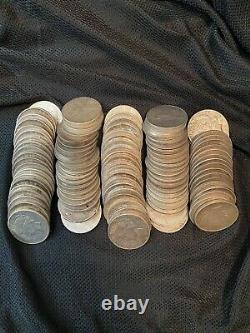5 Rouleaux 100 Pièces $1 1922-1935 Peace Us Silver Dollars Eagle 90% Lot En Vrac