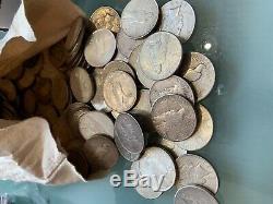 5 Rouleaux 100 Pièces 1 Ca 1922-1935 Peace Silver Dollars Eagle 90% Vrac