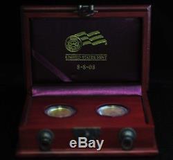8-8-08 Us Mint Double Prosperity Set 1 / 2oz Or Eagle & Or Buffalo 09dud