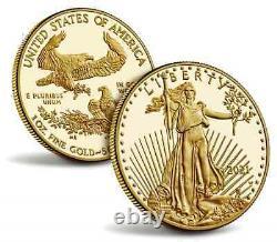 Acheter2021-w 1oz Fine Gold Proof Am Eagle Cn(t-1) (21eb) +us Mint Pres. Cas +aco