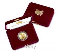 Acheter Ici2021-w 1/4oz Fine Gold Proof Am Eagle Coin(t-1)+us Mint Pres. Cs+extras