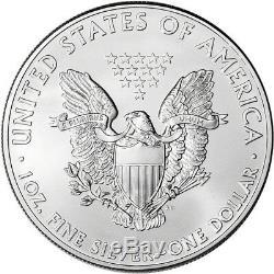 Aigle Américain En Argent 2011 (1 Oz) 1 $ 1 Rouleau Vingt Pièces De 20 Bu En Tube De Menthe