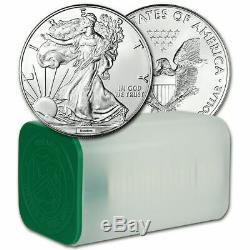 Aléatoire Date American Eagle Argent (1 Oz) 1 $ 1 Rouleau De 20 Pièces Bu Mint Tube