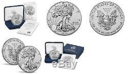 American Eagle 2019 Une Once D'argent Preuve Inverse Amélioré Coin U. S. Monnaie